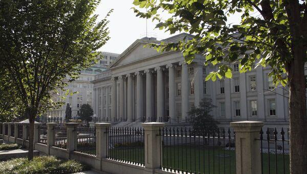 Здание министерства финансов США в Вашингтоне - Sputnik Ўзбекистон
