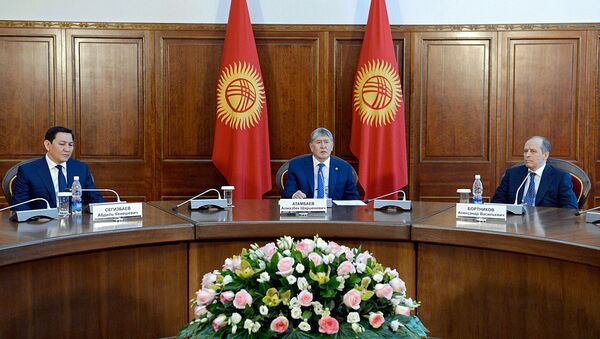 Президент Алмазбек Атамбаев принял руководителей органов безопасности и спецслужб стран СНГ - Sputnik Ўзбекистон