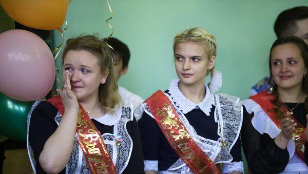 Празднование последнего звонка в России - Sputnik Ўзбекистон