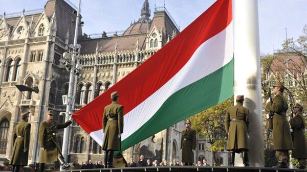 Flag Vengrii - Sputnik Oʻzbekiston