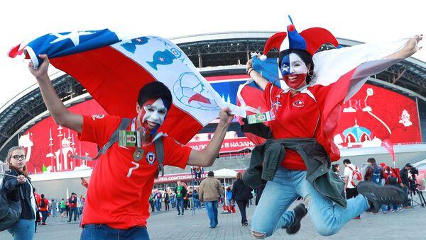 Болельщики сборной Чили перед началом матча Кубка конфедераций-2017 по футболу между сборными Германии и Чили - Sputnik Узбекистан