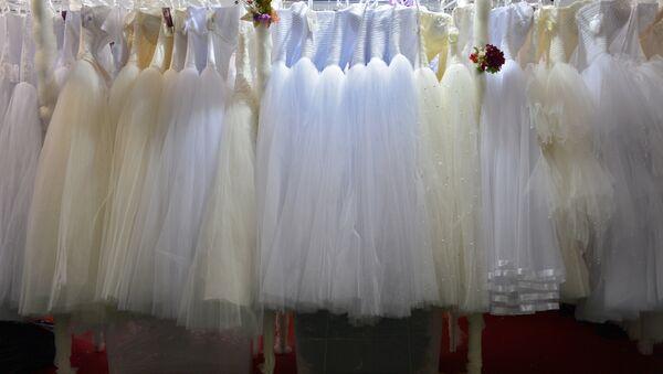 Выставка свадебной и вечерней моды в Москве - Sputnik Ўзбекистон