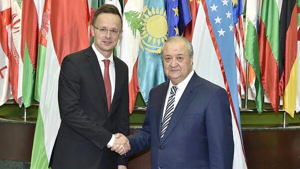 Абдулазиз Камилов встретился с  Министром внешних экономических связей и иностранных дел Венгрии Петером Сийарто - Sputnik Ўзбекистон