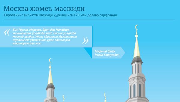 Москва жомеъ масжиди - Sputnik Ўзбекистон