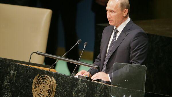 Президент РФ В.Путин принимает участие в 70-й сессии Генеральной Ассамблеи ООН - Sputnik Узбекистан