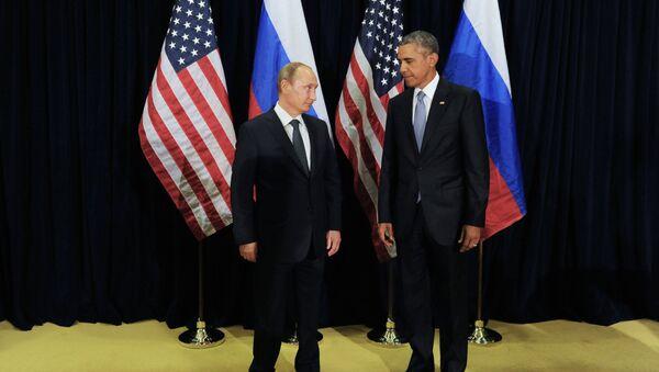 Президент России Владимир Путин (слева) и президент США Барак Обама - Sputnik Узбекистан