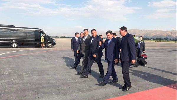Встреча министров внутренних дел СНГ в международном аэропорту Душанбе - Sputnik Ўзбекистон