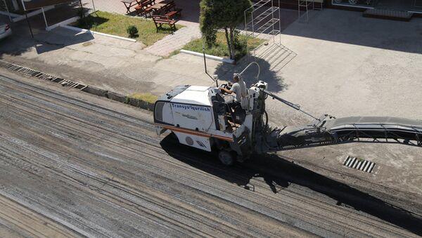 Капитальный ремонт малой кольцевой автомобильной дороги в Ташкенте  - Sputnik Ўзбекистон