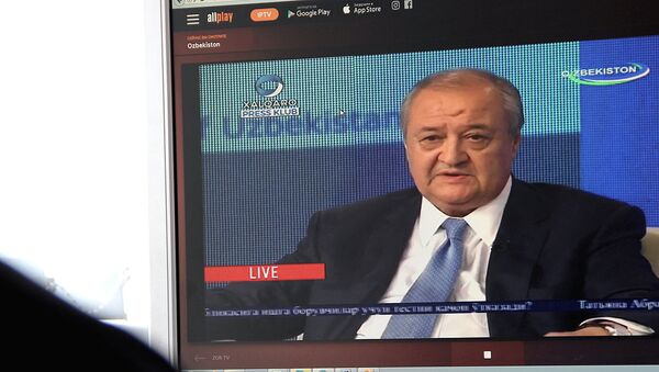 Prosmotr pryamoy translyatsii s uchastiyem ministra inostrannыx del Uzbekistana Abdulaziza Kamilova - Sputnik Oʻzbekiston