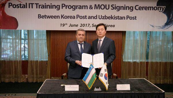 Delegatsiya AO Uzbekiston pochtasi v Yujnoy Koreye - Sputnik Oʻzbekiston