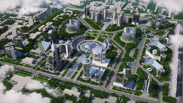 Proyekt buduщego delovogo tsentra Tashkent-Siti - Sputnik Oʻzbekiston