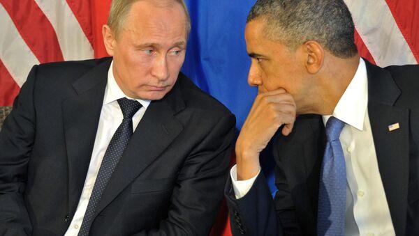 Rossiya prezidenti Vladimir Putin va AQSH prezidenti Barak Obama - Sputnik Oʻzbekiston