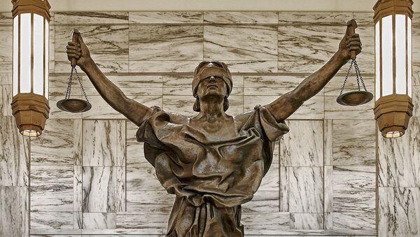 Statuya bogini pravosudiya - Sputnik Oʻzbekiston
