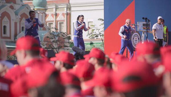 Na Krasnoy ploщadi vpervыe otmetili Den rossiyskogo boksa - Sputnik Oʻzbekiston