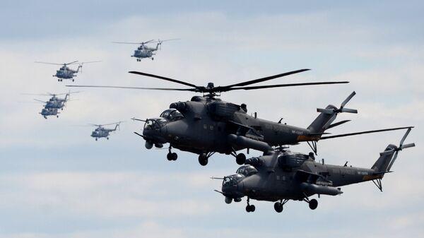 Vertoletы Mi-35 - Sputnik Oʻzbekiston