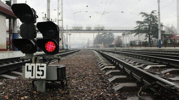 Участок железнодорожного пути, архивное фото - Sputnik Узбекистан
