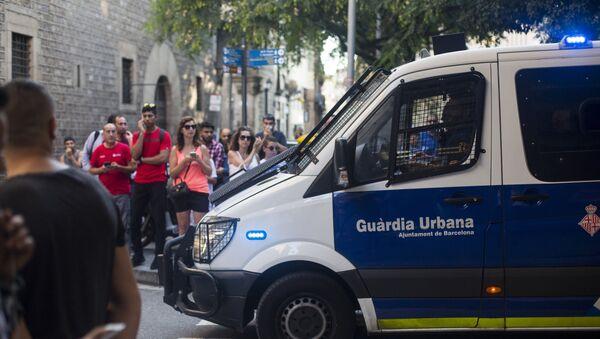 Ситуация на месте теракта в Барселоне - Sputnik Узбекистан