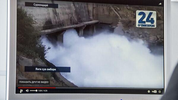 Просмотр сюжета о строительстве новой ГЭС Тупаланг в Сурхандарьинской области - Sputnik Ўзбекистон