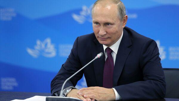 Рабочая поездка президента РФ В. Путина в Приморский край. День третий - Sputnik Ўзбекистон