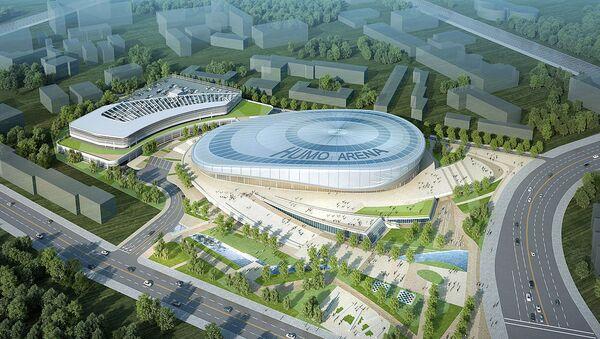 Эскиз интерьера строящегося многофункционального ледового комплекса Humo Arena в Ташкенте - Sputnik Ўзбекистон