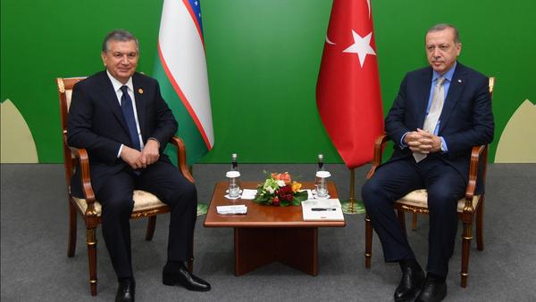 Шавкат Мирзиёев и Реджеп Тайип Эрдоган - Sputnik Узбекистан