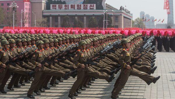 Праздничные мероприятия, посвященные 105-й годовщине со дня рождения Ким Ир Сена, в КНДР - Sputnik Узбекистан