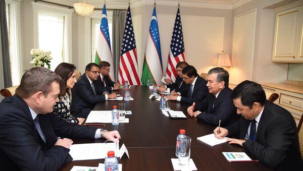 Prezident Respubliki Uzbekistan vstretilsya s predstavitelyami delovыx krugov Ameriki - Sputnik Oʻzbekiston
