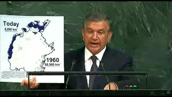 Prezident Uzbekistana Shavkat Mirziyoyev vыstupil na 72-y Genassambleye OON - Sputnik Oʻzbekiston