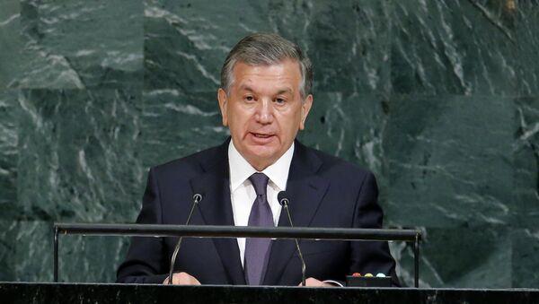 Президент Узбекистана Шавкат Мирзиёев на Генассамблее ООН - Sputnik Ўзбекистон