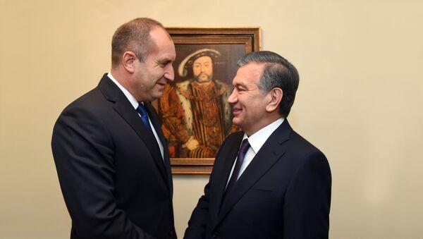 Президент Узбекистана Шавкат Мирзиёев провел переговоры с главой Болгарии Руменом Радевым - Sputnik Узбекистан