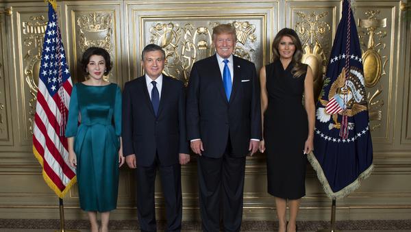 Президенты Узбекистана и США с супругами - Sputnik Ўзбекистон