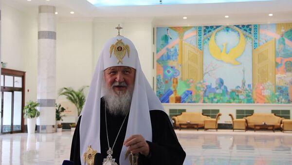 Patriarx Kirill: rad voochiyu uvidet posledniye dostijeniya Uzbekistana - Sputnik Oʻzbekiston
