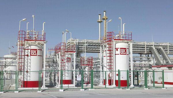 Газовая станция компании Лукойл в Джаркудуке, Узбекистан - Sputnik Ўзбекистон