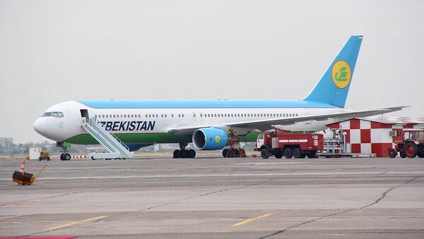 Samolet Uzbekskix avialiniy Boeing 767 (300ER)  - Sputnik Oʻzbekiston