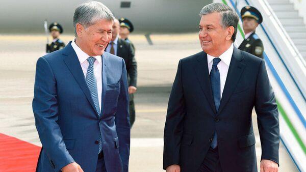 Prezident Kыrgыzstana Almazbek Atambayev i Prezident Uzbekistana Shavkat Mirziyoyev - Sputnik Oʻzbekiston