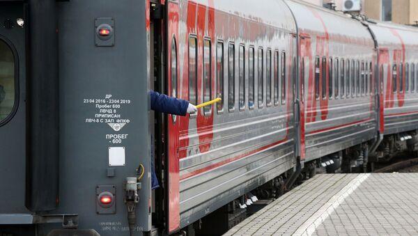 Поезд ОАО РЖД, архивное фото - Sputnik Узбекистан