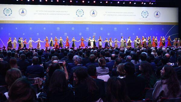 Торжественная церемония открытия 137-й Ассамблеи Межпарламентского союза - Sputnik Узбекистан