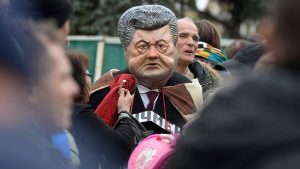 Участники акции в поддержку политической реформы в Киеве - Sputnik Ўзбекистон