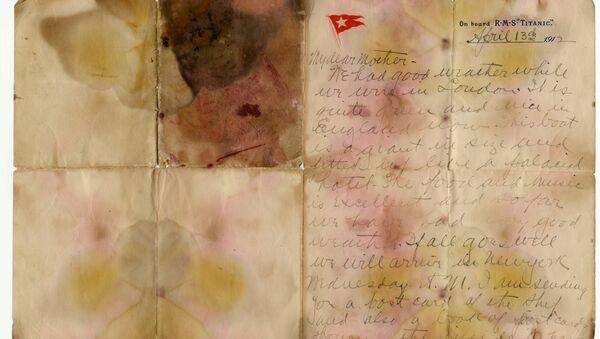 Проданное с аукциона письмо погибшего пассажира Титаника - Sputnik Узбекистан