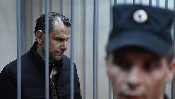 Подозреваемый в нападении на журналистку Эха Москвы Татьяну Фельгенгауэр Борис Гриц - Sputnik Узбекистан