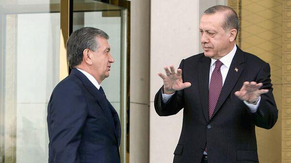 Президент Узбекистана Шавкат Мирзиёев и президент Турции Реджеп Тайип Эрдоган в Анкаре - Sputnik Ўзбекистон