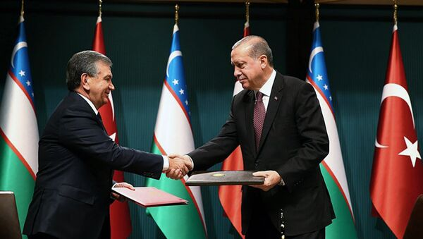 Prezident Uzbekistana Shavkat Mirziyoyev i prezident Turtsii Redjep Tayip Erdogan v Ankare - Sputnik Oʻzbekiston