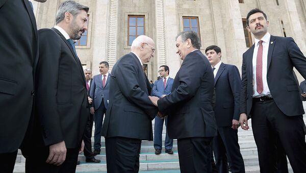 Шавкат Мирзиёев во время государственного визита в Турцию - Sputnik Ўзбекистон