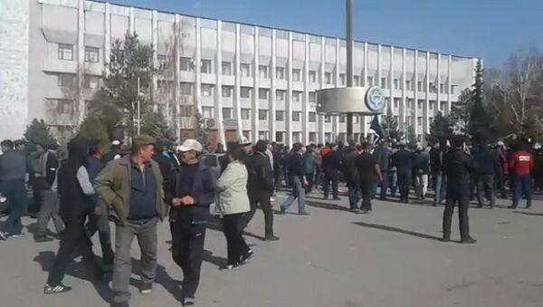 Что было на митинге в центре Таласа — видео - Sputnik Ўзбекистон