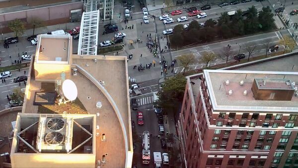 Место наезда автомобиля в Нью-Йорке - Sputnik Ўзбекистон