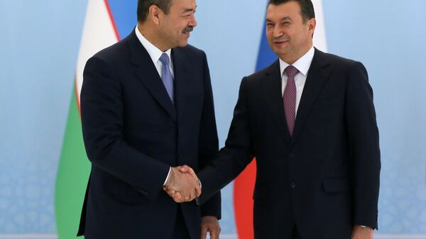 Premyer-ministr Uzbekistana Abdulla Aripov i premyer-ministr Tadjikistana Koxir Rasulzoda - Sputnik Oʻzbekiston