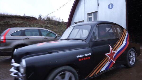 СПУТНИК_Умелец сделал из Победы суперкар, разгоняющийся до 100 км/ч за 4 секунды - Sputnik Ўзбекистон