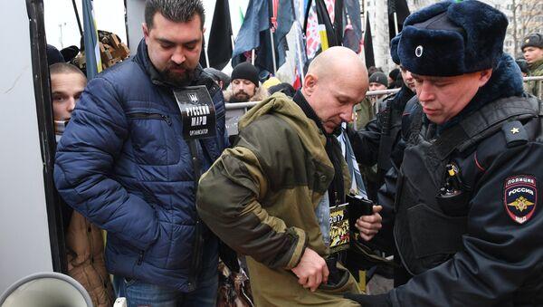 Акция Русский марш в Москве - Sputnik Ўзбекистон