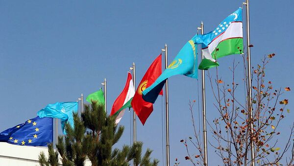 Флаги стран-участниц конференции по обеспечению безопасности и устойчивого развития в Центральной Азии - Sputnik Узбекистан