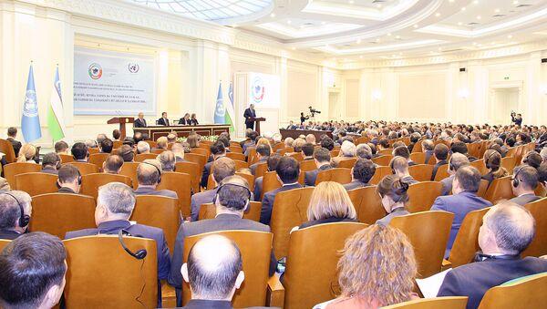 Международная конференция Центральная Азия: одно прошлое и общее будущее, сотрудничество ради устойчивого развития и взаимного процветания в Самарканде - Sputnik Узбекистан
